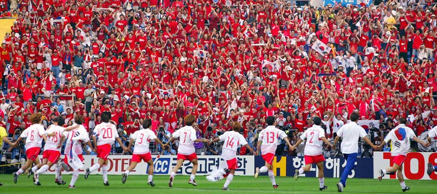 Korean fans and players 2002 world cup