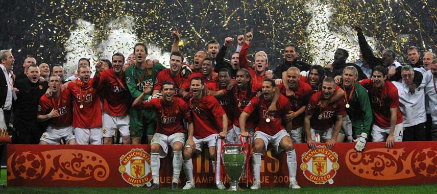 Man Utd Champions League Winners 2008