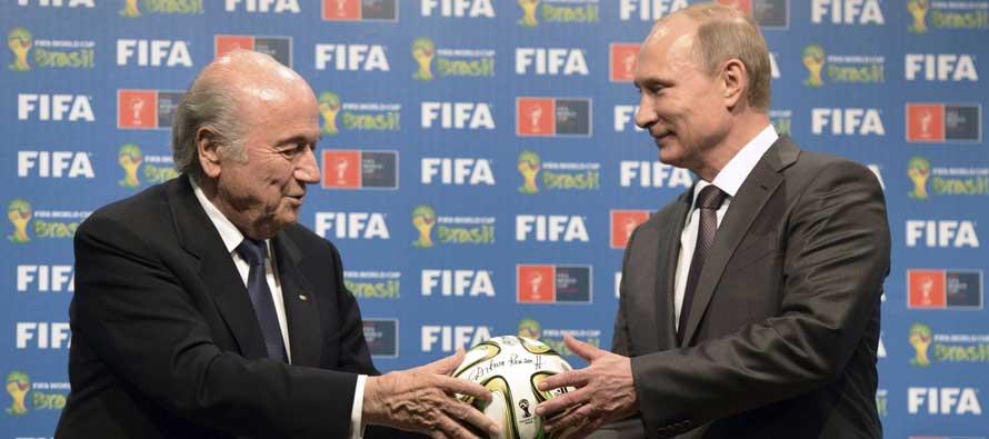 Sepp Blatter and Vladamir Putin