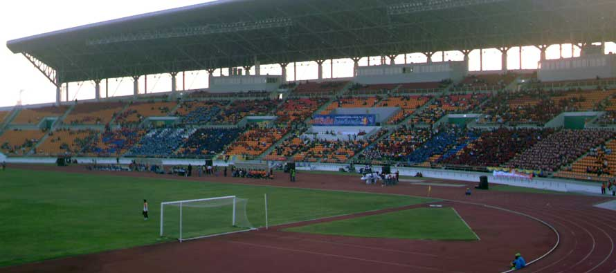 Main stand of 80th Birthday stadium