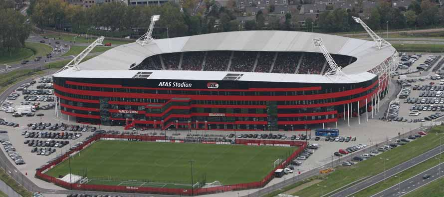 Aerial view of AFAS Stadion