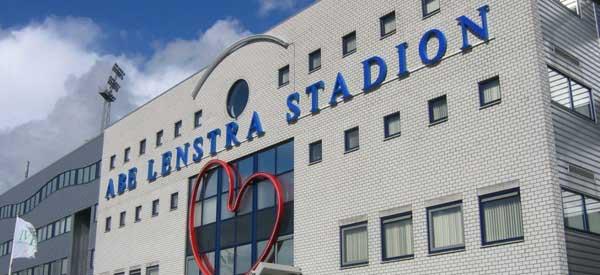 Exterior of Abe Lenstra Stadium