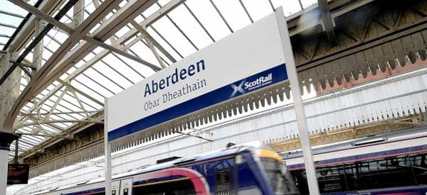 Aberdeen Train Station.