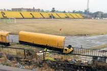Looking inside Al Karkh Stadium