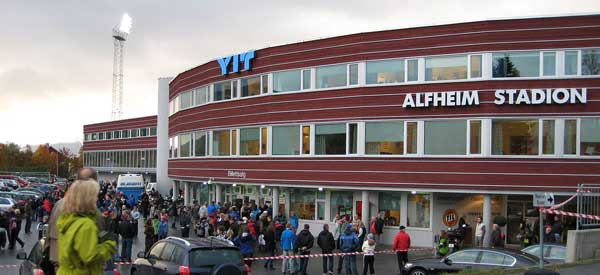 Main reception of Alfheim Stadium