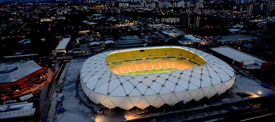 amazonia arena at night