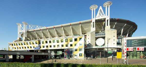 The exterior of Amsterdam Arena