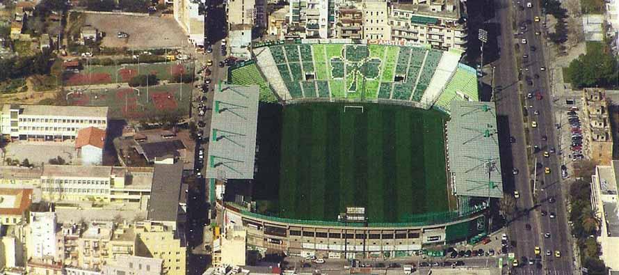 Aerial view of Apostolos Nikolaidis Stadion