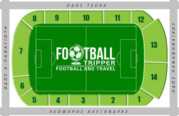 Panathinaikos' stadium seating plan