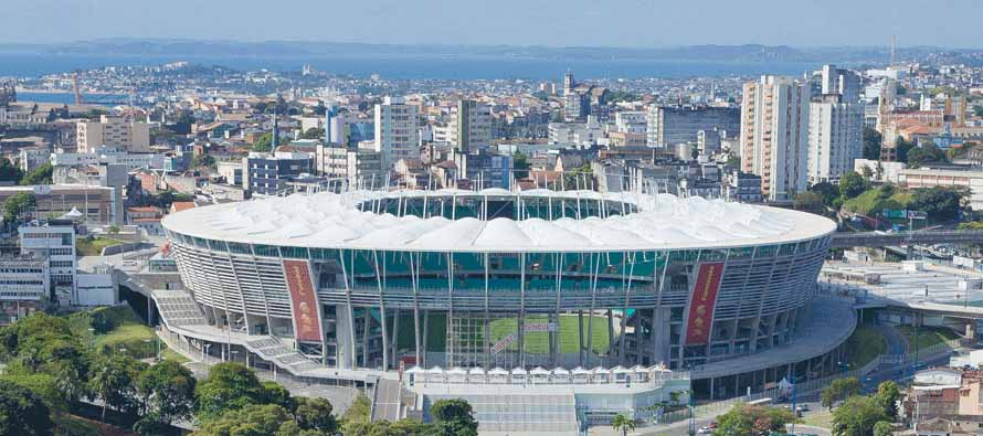 Aerial view of Arena Fonte Nova