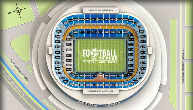 Seating chart for Arena do Gremio