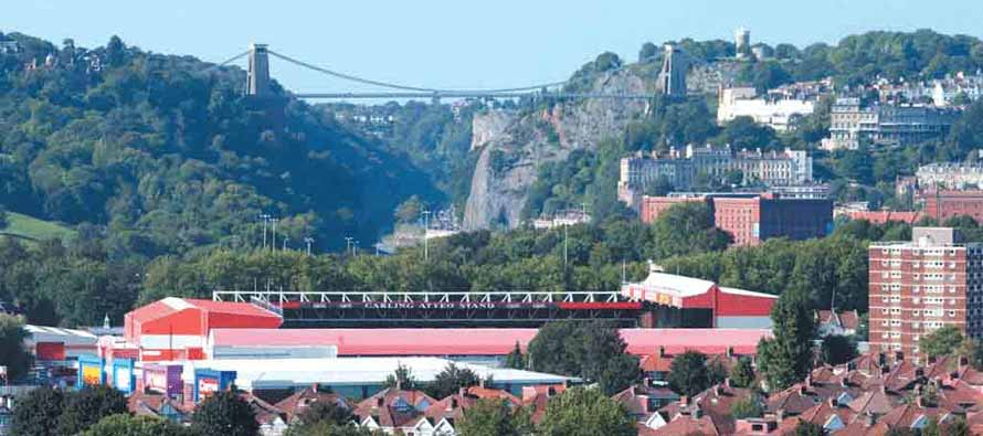 Ashton Gate Bristol Skyline