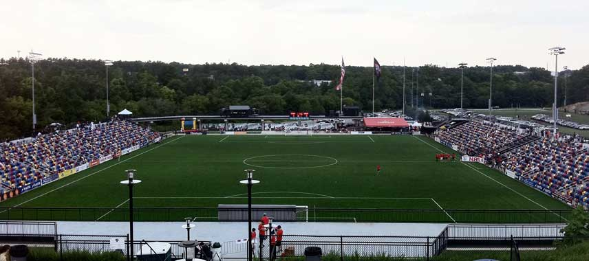 The pitch at Silverbacks Park