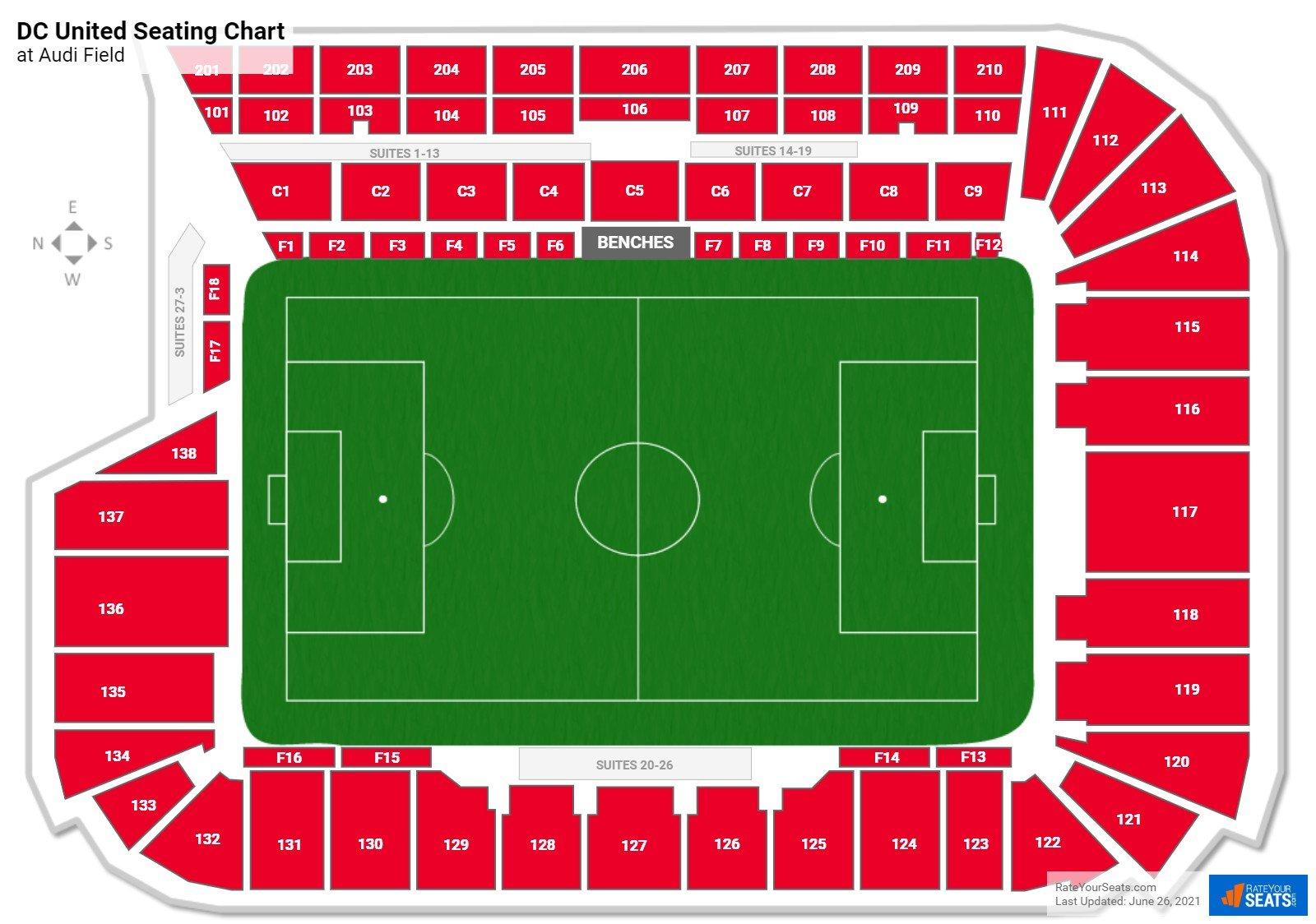 Audi Field DC United Seating Chart