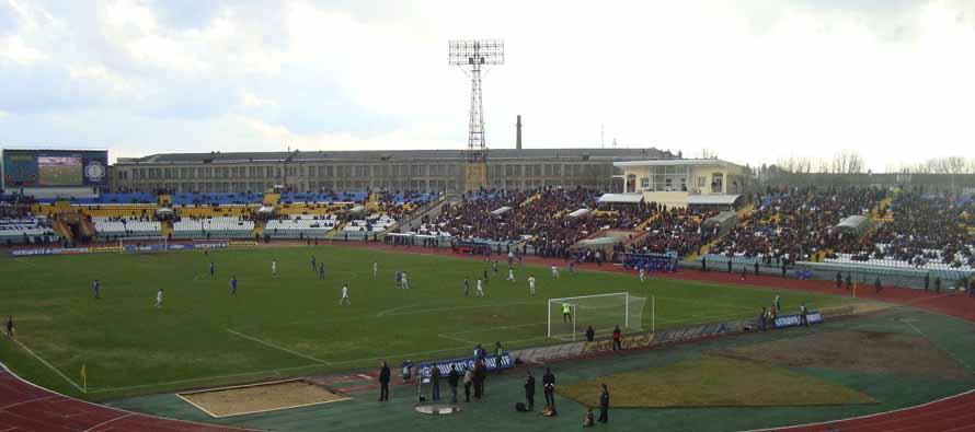 inside avanhard stadium lutsk matchday