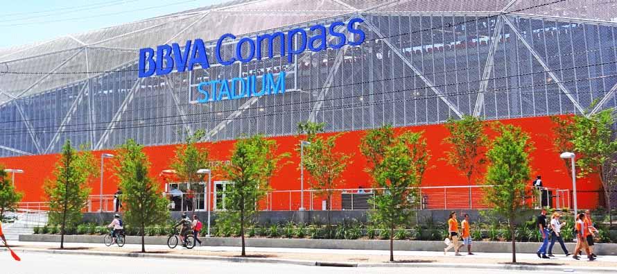 Exterior of BBVA Compass Stadium
