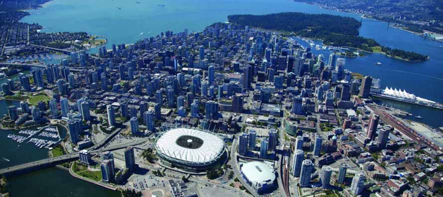Aerial View of BC Place