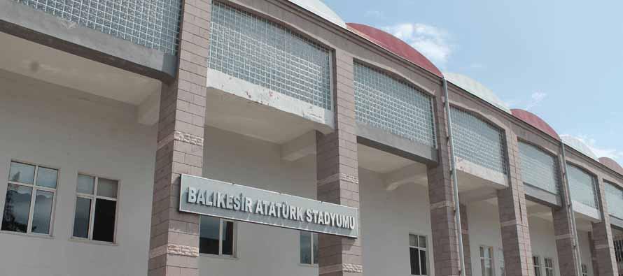The exterior of Balikesir Ataturk Stadium