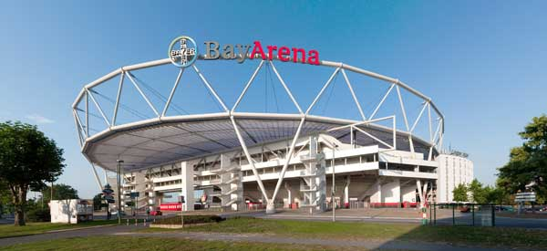 The exterior of BayArena.