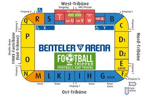 Benteler Arena Seating Plan