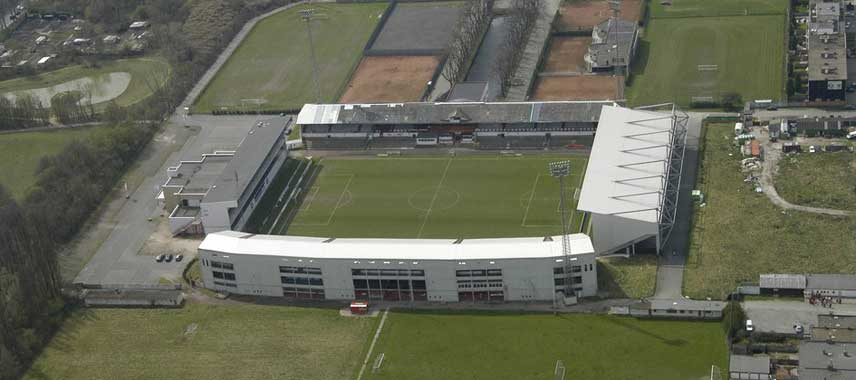 Aerial view of Antwerp's Bosuilstadion