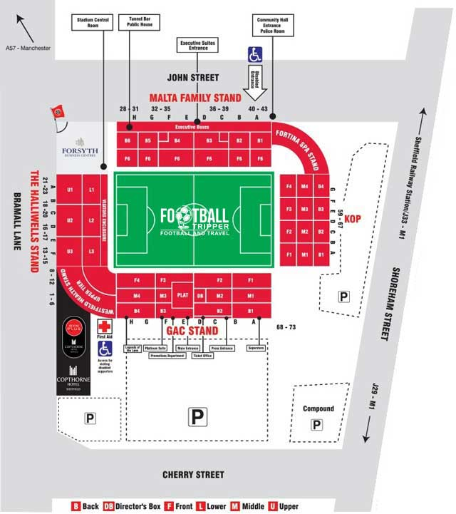 Bramall Lane Stadium Seating Plan