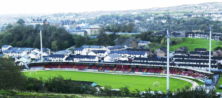Aerial view of Brandywell Stadium