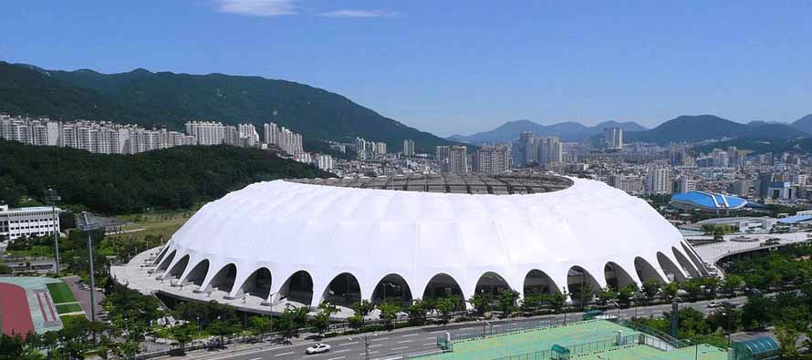 Exterior of Busan Asiad Main Stadium