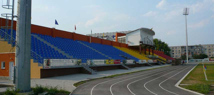 Main stand of CSR Orhei Stadium