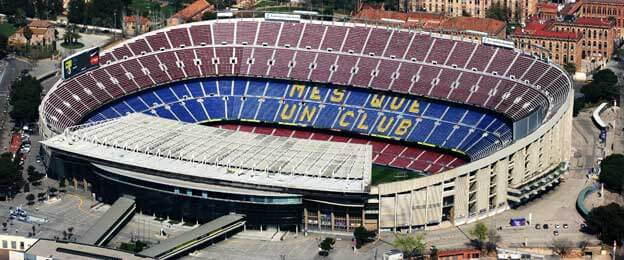 Camp Nou Aerial shot