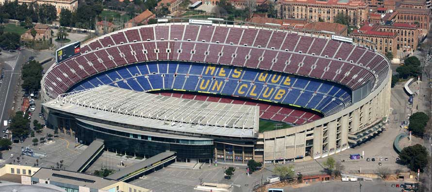 Aerial View of Camp Nou