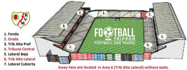 Camp de Futbol de Vallecas Stadium Plan