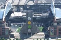Aerial view of CenturyLink Stadium
