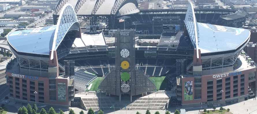 Aerial view of CenturyLink Stadium