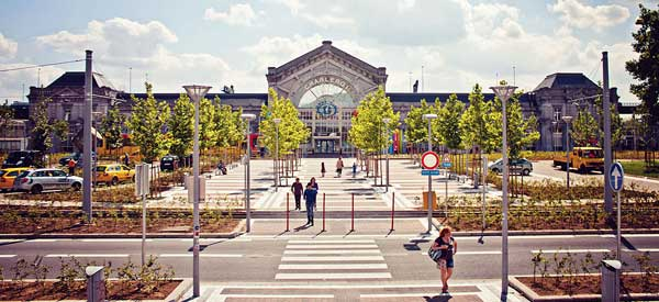 Exterior of Charleroi south station