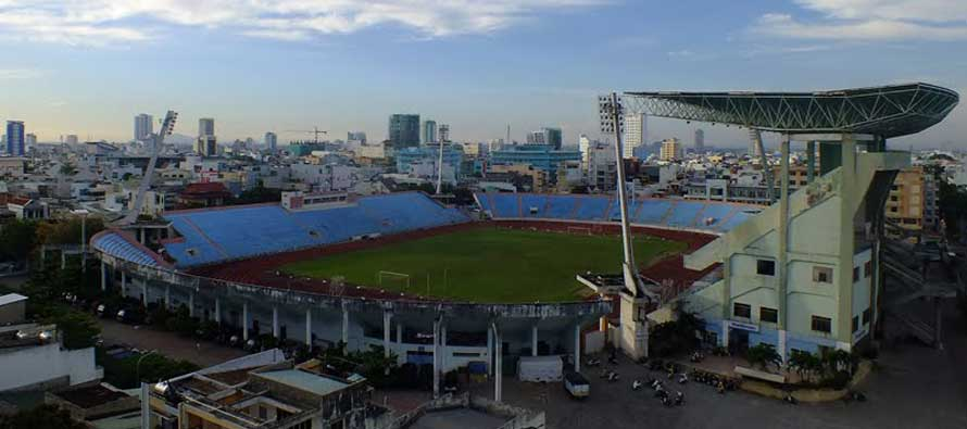 Overlooking Chi Lang Stadium Pitch