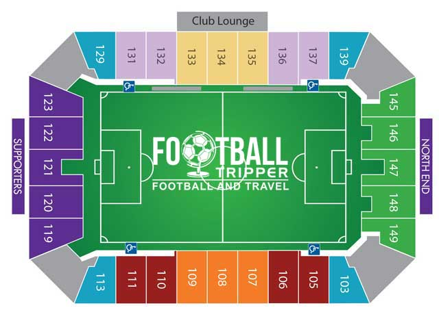 Citrus Bowl Seating plan for Soccer matches