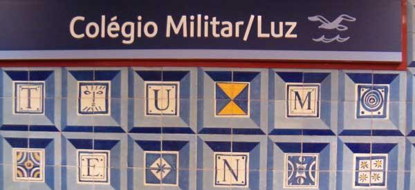 Colegio Militar Luz Metro Sign