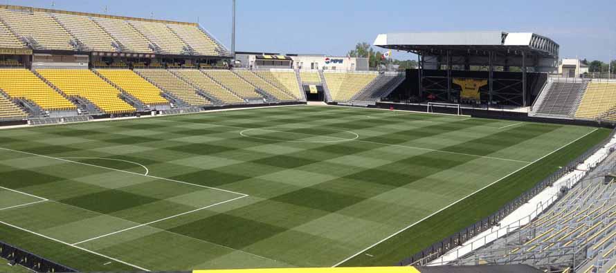Inside empty Columbus Crew Stadium