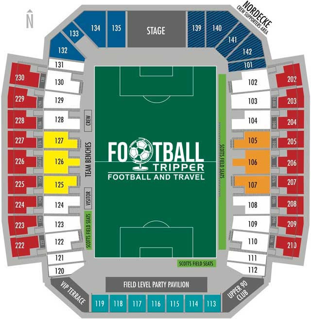 Crew Stadium Seating Plan Columbus