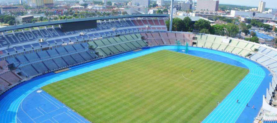 Aerial view of Darul Makmur Stadium