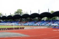 The main stand of Daugava Stadium