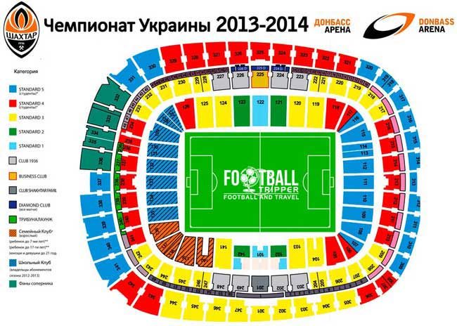 Donbass Arena Seating Plan
