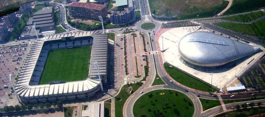 aerial view of campos de sport el sardinero
