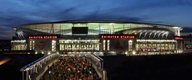 Exterior of Emirates Stadium