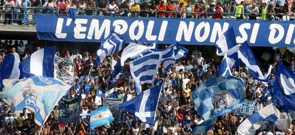 Empoli supporters inside the stadium