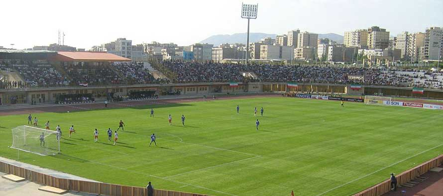 Inside Enghelab stadium on matchday