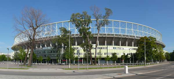 Exterior of Ernst Happel Stadion