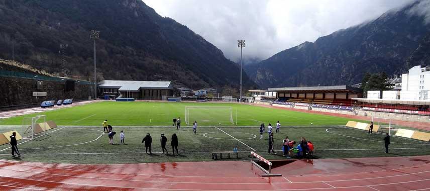 Inside Andorra's communal stadium