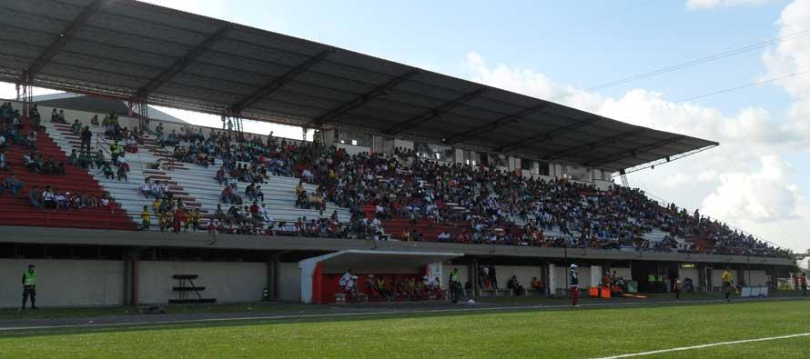 Aerial view of Estadio Alberto Grisales
